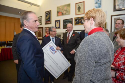 Secretary Shulkin talks with BVL ED Mary Harrar