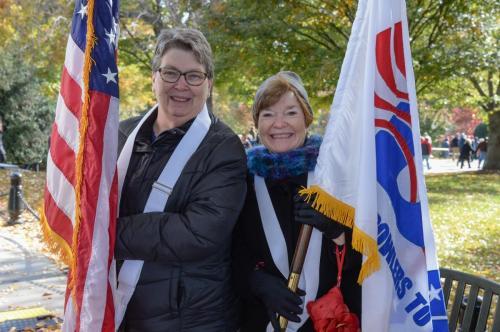 US and BVL Flag Bearers Robbie Thomas and Anita LaSpina